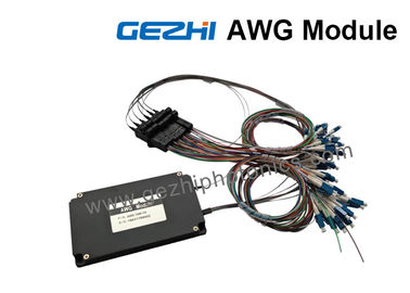 ประเทศจีน Dual 88-CH 50GHz Flat-Top AWG DWDM Mux Demux with 1% Tap Monitor ผู้ผลิต