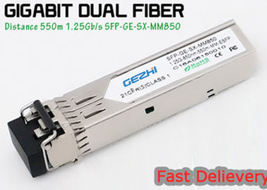 ประเทศจีน 1.25G 850nm Fp 550m Lc Mmf Small Form Factor Pluggable Transceiver Fcc Compliant Sfp ผู้ผลิต
