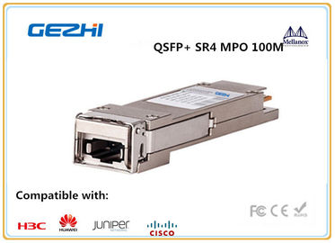 ประเทศจีน 40G QSFP+ Module SR4 MPO 100M INDUSTRIAL Temp for Metro networks and Data centers ผู้จัดจำหน่าย
