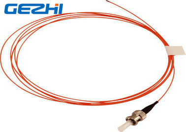ประเทศจีน Orange OM2 Fiber Optic Patch Cord ST MM SX , 50 / 125 um 2 Meters 900um Pigtail Optical Fiber ผู้จัดจำหน่าย