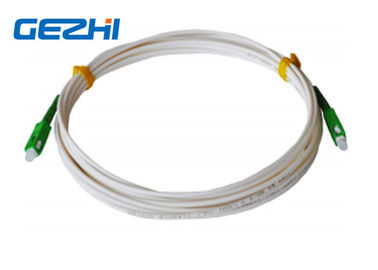 ประเทศจีน FTTH Drop Cable Fiber Optic Patch Cord SC / APC - SC / APC SM LSZH 1M Jumper Indoor ผู้จัดจำหน่าย